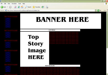 FW's original Geocities web template.