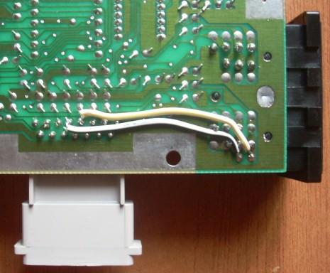 AV Famicom - wires soldered