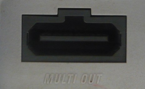 AV Multi Out Port from a SNES system.