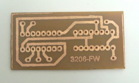 Homemade etched PCB