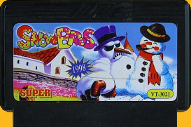 Pirate cart with mean snowman!
